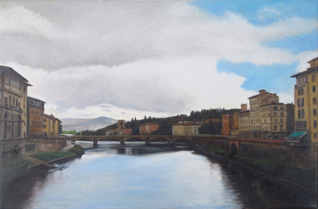 Ponte Alle Grazie | 10 x 15 inches | oil on canvas