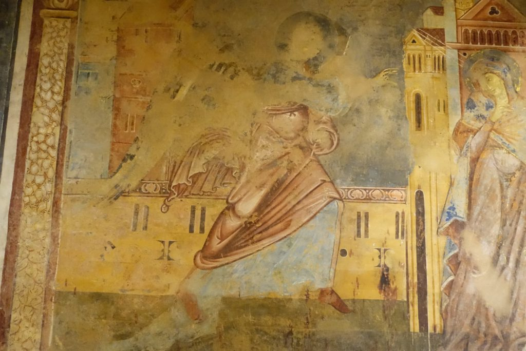 13th century frescoes were discovered underneath the cathedral in Siena.
