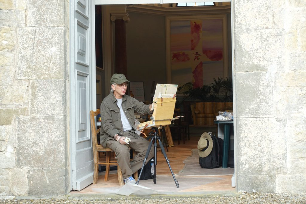 Frank painting in San Fedele.