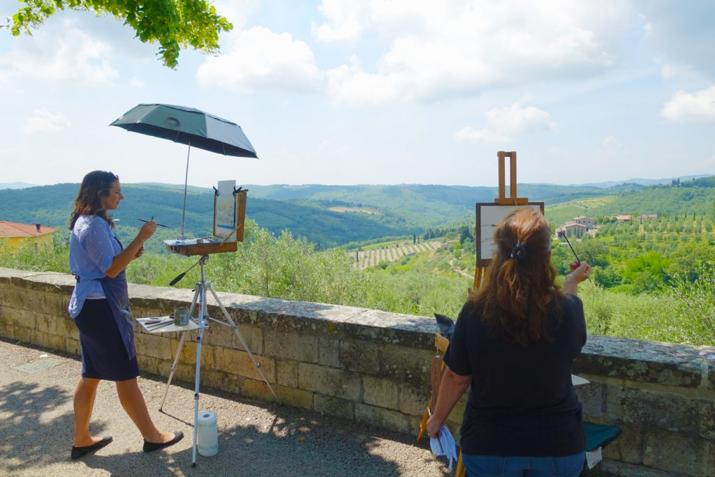 Painting in Radda in Chianti.