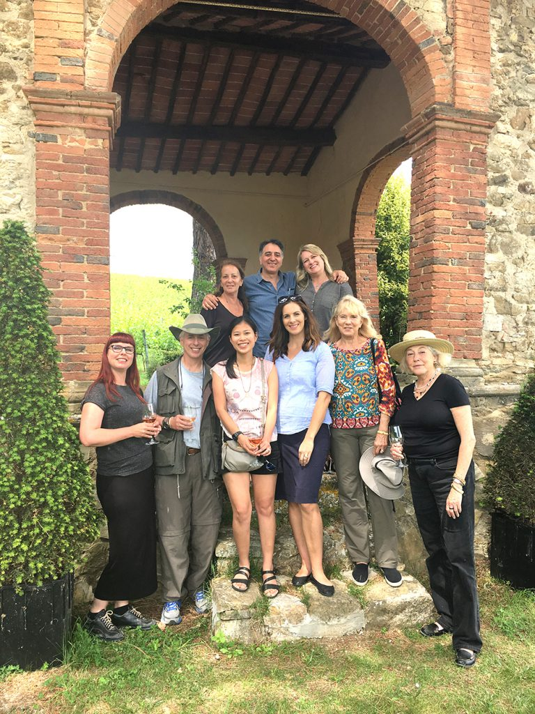 Group picture at Terrabianca Vineyards.