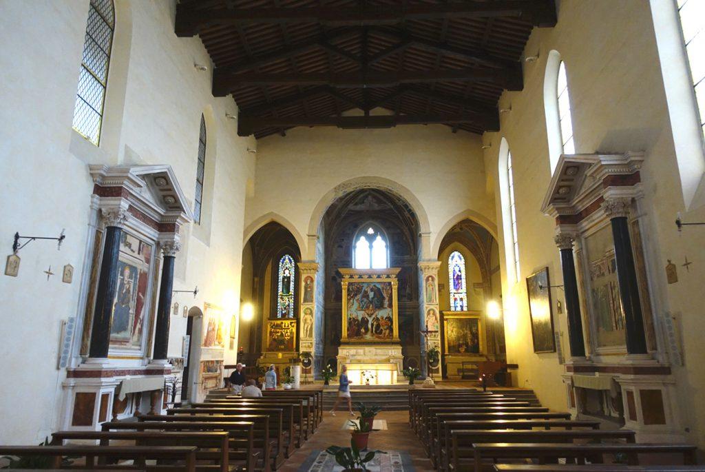 Inside Saint'Agostino in San Gimignano.