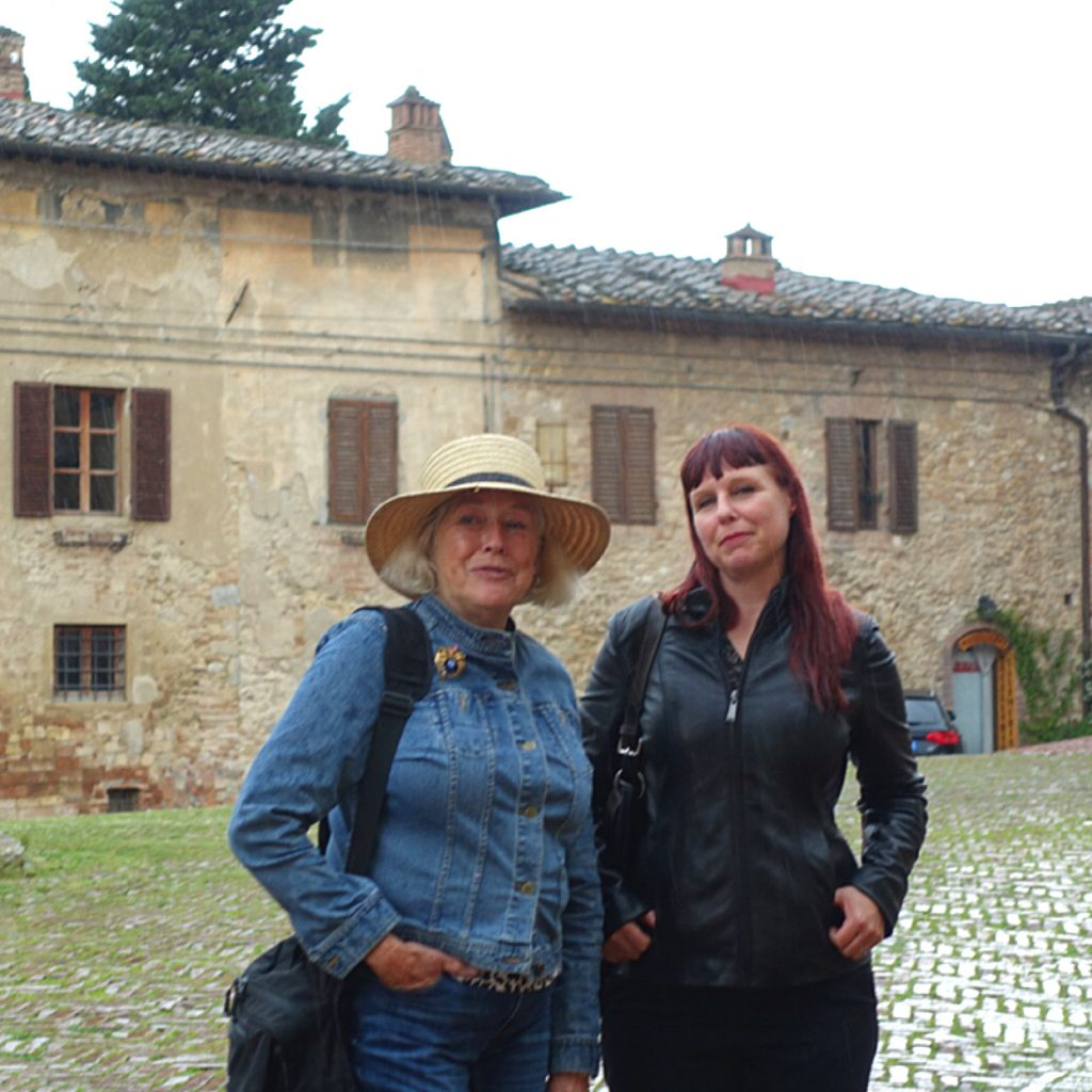Suzanne and Michelle outside Saint'Agostino.