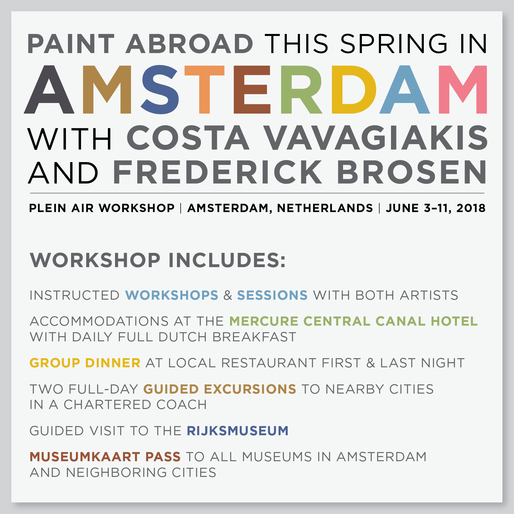 Join Me in Amsterdam!