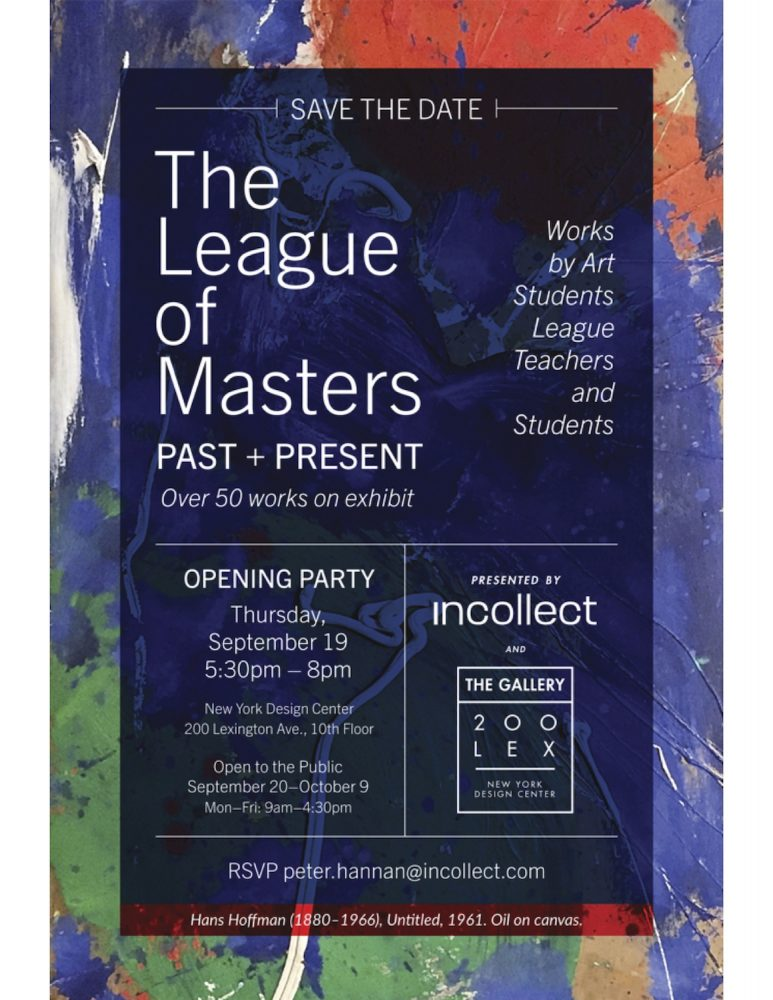 The League of Masters, Past + Present on View Through October 9